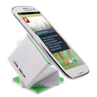 Wireless Ladestation Dock Station für viele Samsung Galaxy QI Ladegerät Weiss