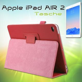 Schutzhülle Kunstleder Tasche Rot für Apple iPad Air 2 2014 Case Kappe Hülle Neu