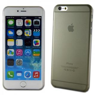 Hardcase Glossy Ultra Dünn 0, 3 mm Grau für Apple iPhone 6 Plus 5.5 Hülle Case