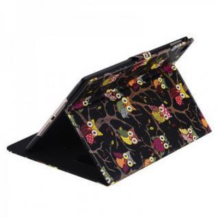 Schutzhülle Kunstleder Tasche Eule 2 für Apple iPad Air 2 2014 Case Kappe Neu