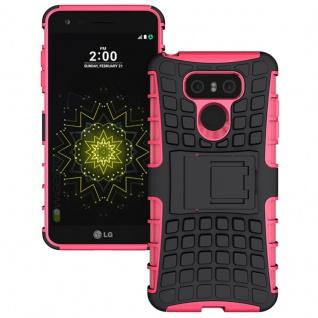 Hybrid Case 2teilig Outdoor Pink für LG G6 H870 Tasche Hülle Cover Neu Schutz