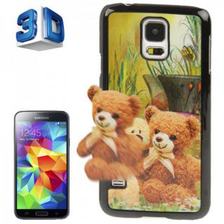 Hardcase Design 3D Optik 3 Hülle Case Schale Cover für Samsung Galaxy S5 G900 F