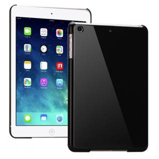 Hardcase Glossy Schwarz für Apple iPad Air Case Cover Hülle Schale Etui + Folie