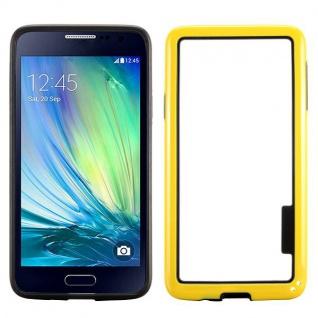 Hybrid Bumper Gelb Hülle Case Schale Tasche für Samsung Galaxy A3 A300 A300F Neu