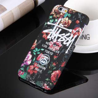 Day Night Schutzhülle Cover für Apple iPhone 6S 6 Style Hardcase Bunt Schwarz