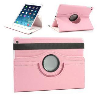 Schutzhülle Kunstleder 360 Grad Tasche Rosa für Apple iPad Air 2 Hülle Case Neu