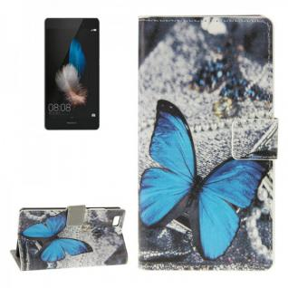 Schutzhülle Muster 41 für Huawei Ascend P8 Lite Bookcover Tasche Hülle Wallet