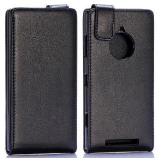 Fliptasche Deluxe Schwarz für Nokia Lumia 830 aufklappbar Tasche Case Hülle Neu