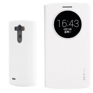 Original ROCK Smartcover Weiss für LG Optimus G3 D850 Tasche Cover Case Hülle