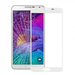 Displayglas Glas Schutz Weiss für Samsung Galaxy Note 4 N910 N910F Reparatur Neu