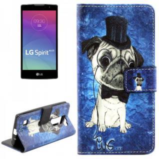 Schutzhülle Muster 48 für LG Spirit C70 H420 Bookcover Tasche Hülle Wallet Case