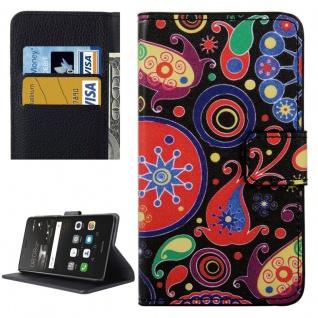Schutzhülle Muster 8 für Huawei P9 Lite Bookcover Tasche Case Hülle Wallet Etui