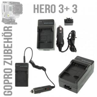 2in1 KFZ-Ladegerät Autoladegerät für GoPro Hero 3 Ladegerät Wall Charger Zubehör