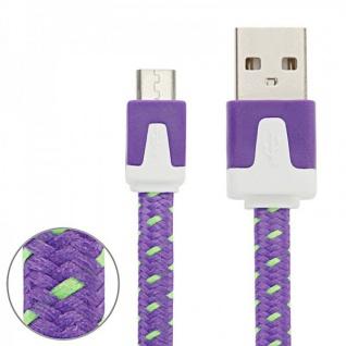 3m USB Daten und Ladekabel Lila für alle Smartphone und Tablet Micro USB Zubehör