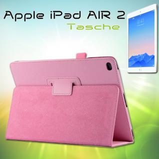 Schutzhülle Kunstleder Tasche Rosa für Apple iPad Air 2 2014 Hülle Case Kappe