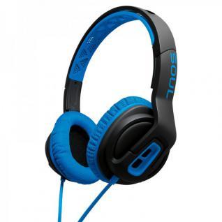 SOUL Transform Kopfhörer On-Ear Sportkopfhörer Studio Headset Blau Top Sound MFI