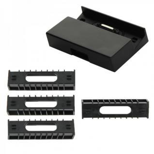 Dockingstation Ladestation für Sony Xperia Z Serie Schwarz + 4x Ladeadapter Neu