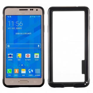 Hybrid Bumper Schwarz Hülle Schale Tasche für Samsung Galaxy Alpha G850 G850F