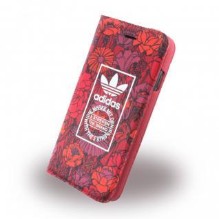 Adidas Bohemian Tasche Book Cover Apple iPhone 7 Hülle Handytasche Etui Rot Neu