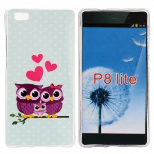 Schutzhülle Silikon Muster 35 für Huawei Ascend P8 Lite Tasche Case Hülle Schutz