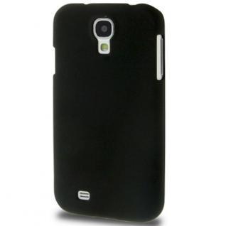 Hardcase Schwarz Hülle für Samsung Galaxy S4 i9500 i9505 LTE Case Cover + Folie