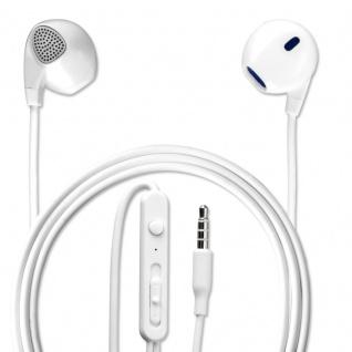 Universal In-Ear Stereo Headset 3, 5 mm Audiokabel 1, 2 m Kopfhörer Ohrhörer Weiß