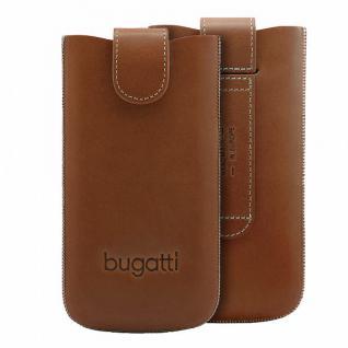 Bugatti Ledertasche SlimCase York für Apple Samsung HTC Nokia Etui Gürtel Gr.2ML