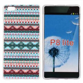 Schutzhülle Silikon Muster 33 für Huawei Ascend P8 Lite Tasche Case Hülle Schutz