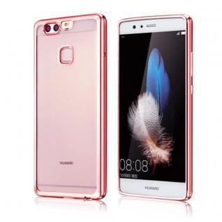 Premium TPU Schutzhülle Pink für Huawei P9 Tasche Case Backcover Silikon Zubehör