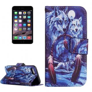 Schutzhülle Muster 73 für Apple iPhone 7 Bookcover Tasche Case Hülle Wallet Etui