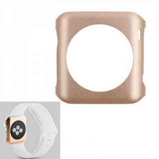 Premium Snap On Alu Backcase Gold für Apple Watch 42 mm Schutzhülle Backcover