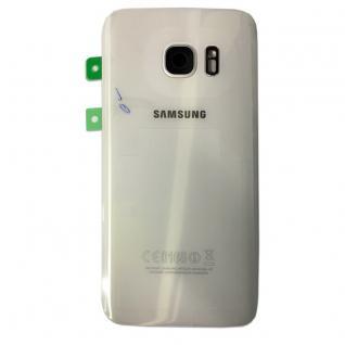 Samsung Akkudeckel für GH82-11384D Galaxy S7 G930F + Klebepad Adhesive Weiß Neu