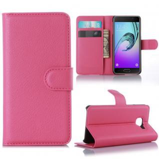 Schutzhülle Pink für Samsung Galaxy A3 2016 A310F Tasche Hülle Wallet Case Etui
