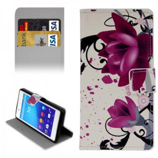 Schutzhülle Muster 3 für Sony Xperia Z3 Plus E6553 Bookcover Tasche Hülle Case