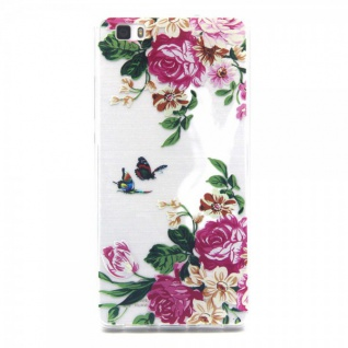 Schutzhülle Silikon Muster 37 für Huawei Ascend P8 Lite Tasche Case Hülle Schutz