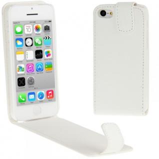 Schutzhülle Weiß Tasche Cover Case Etui Schale für Apple iPhone 5C 5 C + Folie
