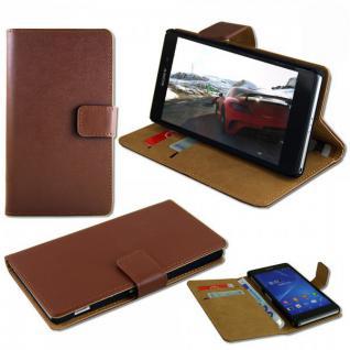 Tasche Wallet Braun für Sony Xperia Z3 Compact D5803 Handy Case Hülle Zubehör
