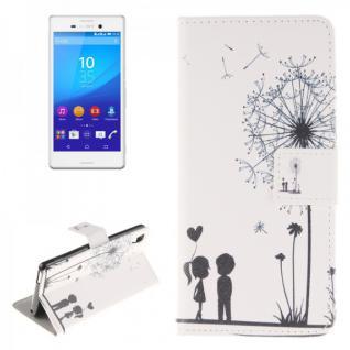 Schutzhülle für Sony Xperia M4 Aqua Bookcover Tasche Design Case Hülle Wallet