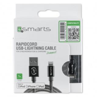 RAPIDCord FlipPlug für Apple Datenkabel 8 Pin Kabel 1m USB Typ-A Ladekabel Black