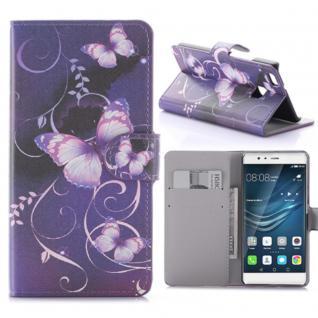 Schutzhülle Muster 61 für Huawei P9 Lite Bookcover Tasche Case Hülle Wallet Etui