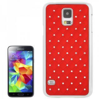 Hardcase Diamant Rot Case Hülle Cover für Samsung Galaxy S5 G900 G900F Schutz