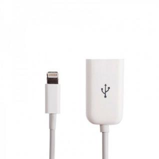 Apple iPhone 5 5S 5C iPad 4 Mini Adapter 8 Polig Kabel auf USB Zubehör Weiß Neu