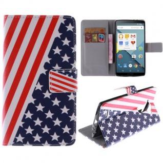 Schutzhülle USA für LG Optimus G4 H815 Bookcover Tasche Hülle Wallet Case Flip