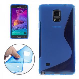 Silikonhülle S-Line Blau Cover Hülle für Samsung Galaxy Note 4 N910 N910F Neu