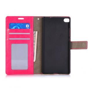 Schutzhülle Pink für Huawei Ascend P8 Bookcover Tasche Hülle Wallet Case Schutz