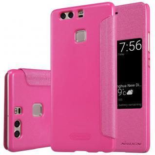Premium Nillkin Smartcover Pink für Huawei P9 Tasche Hülle Case Etui Schutz Neu