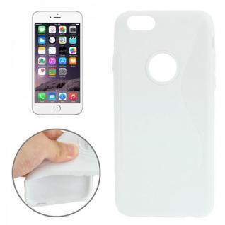 Silikon Case S-Line Bull Eye Weiss für Apple iPhone 6 4.7 Hülle Cover Kappe Neu
