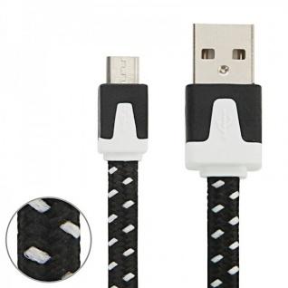 3m USB Daten und Ladekabel Schwarz für alle Smartphone und Tablet Micro USB Neu