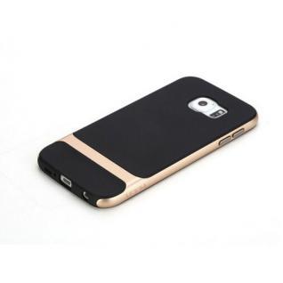 Original ROCK Silikon Case Schwarz / Gold für Samsung Galaxy S6 G920F Tasche Neu