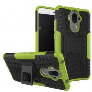 Hybrid Case 2teilig Outdoor Grün für Huawei Mate 9 Tasche Hülle Cover Neu Schutz